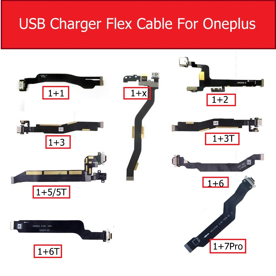 USB Chargring Flex Cable For Oneplus 1+1 2 X 3 3T 5 5T 6 6T 7 7pro USB Charger Port Connector Flex Cable Replacement Repair