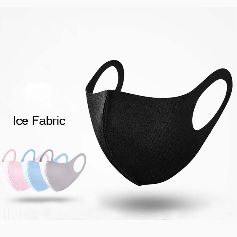 Ice Fabric 3D Mouth Mask Summer Washable Face Cover Anti Dust Carbon Oxide Wind Proof Mouth-muffle Sunblock Face Masks