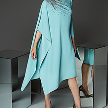 mother dress tailor shop sky blue beading dress