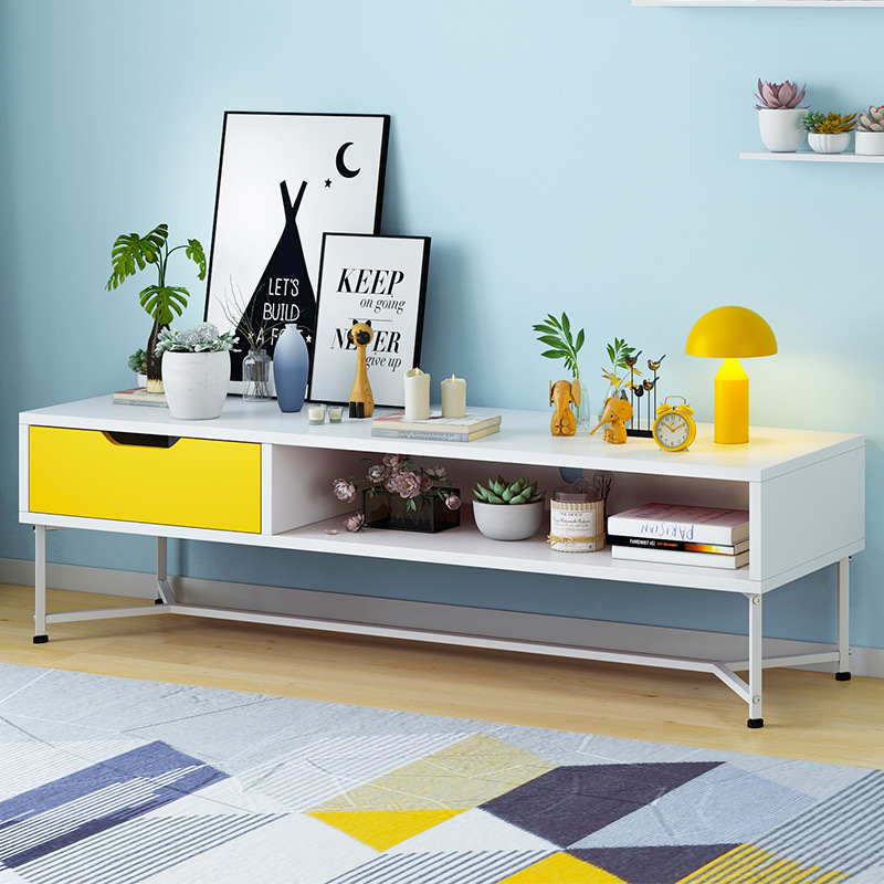 Television Cabinet Floor Cabinet Northern European-Style Modern Minimalist Small Apartment Set Bedroom Living Room Multi-functio