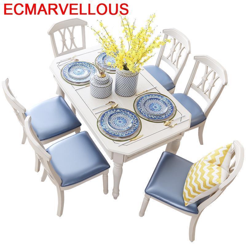Sandalye A Langer Sala Meja Makan Pliante Eet Tafel Marmol Dinning Set Esstisch De Jantar Tablo Bureau Mesa Comedor Dining Table