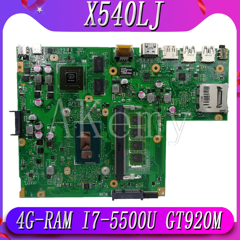 New!!! Mianboard For ASUS X540L F540L X540LJ Laptop Motherboard REV2.1 Test Work 100% 4G-RAM I7-5500U GT920M