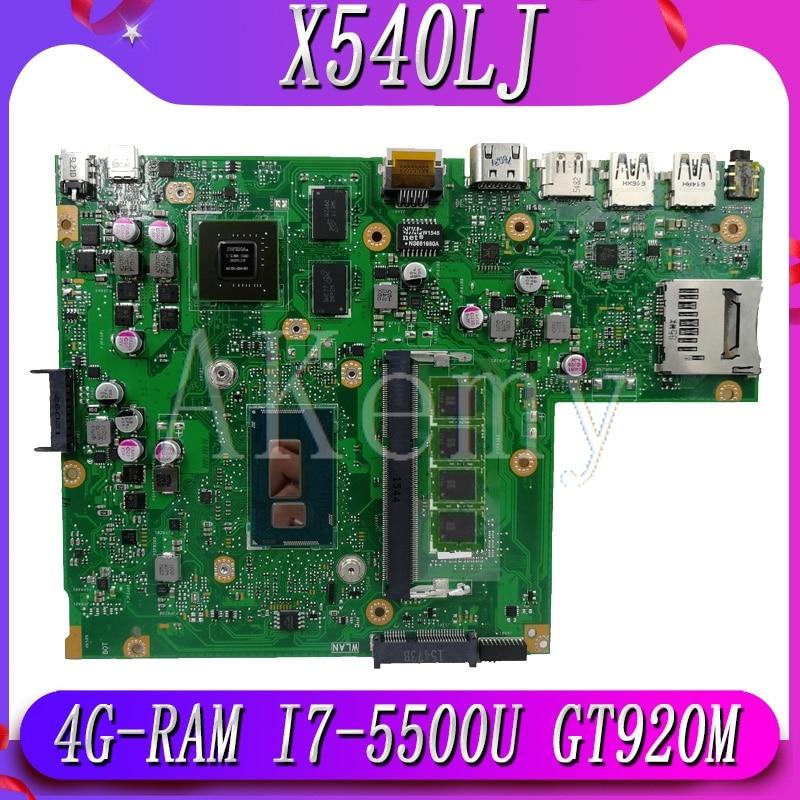 New!!! Mianboard For ASUS X540L F540L X540LJ Laptop Motherboard REV2.1 Test Work 100% 4G-RAM I7-5500U GT920M