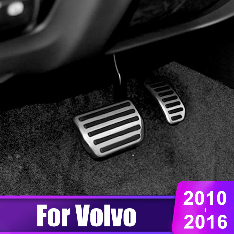Stainless Steel Car Accelerator pedal Brake pedals Cover For <font><b>VOLVO</b></font> <font><b>XC60</b></font> S60 V60 V70 S40 C30 S60L S80L C30 2010-20104 2015 <font><b>2016</b></font> image