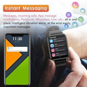 Image 5 - 2021 Thể Thao Đồng Hồ Thông Minh Nam Nữ Tùy Chỉnh Giấy Dán Tường Đồng Hồ Thông Minh Smartwatch Nhiệt Độ Cơ Thể Đo Nhịp Tim Đồng Hồ Dành Cho IOS Android