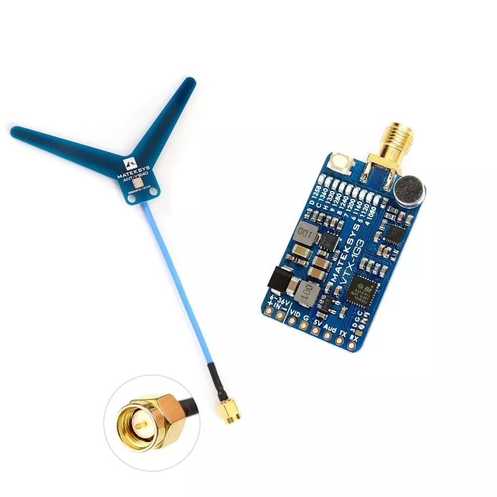 MATEKSYS VTX-1G3-9 1.2Ghz 1.3Ghz 9CH Version internationale émetteur vidéo FPV pour moniteur de lunettes de Drone RC