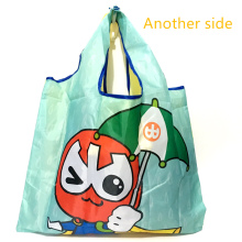 ECO Polyester Reusable Tote Foldable Shopping Bag Women Men Shopper Package Buy vegetables traveling shopping