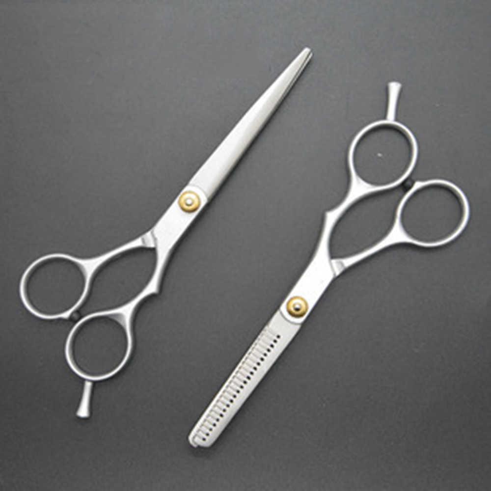 Wysokiej jakości idealne narzędzie dla fryzjerów stop stali nierdzewnej nożyczki do włosów ostre trwałe nożyce do cięcia degażówki