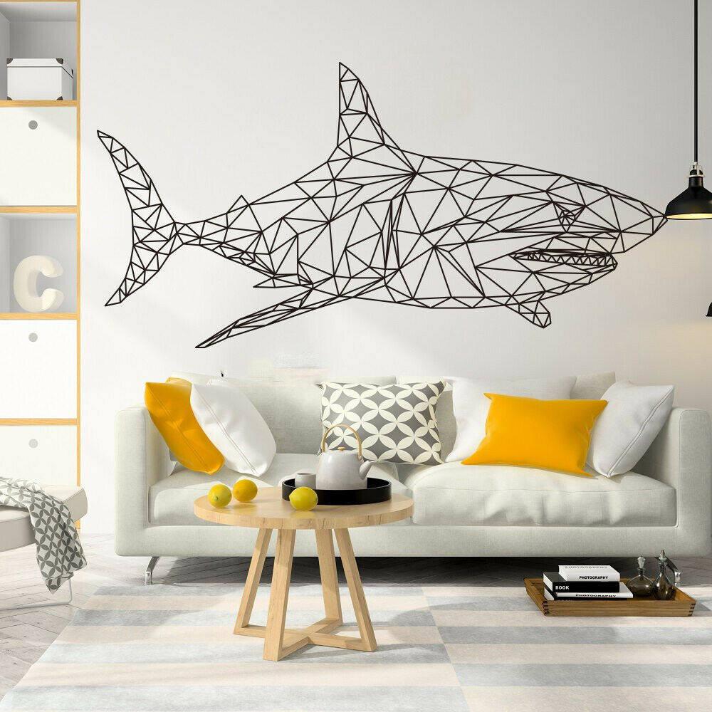 Baby Shark Sea World Name Series Nursery Wall Decal Vinyl Sticker for Home Décor