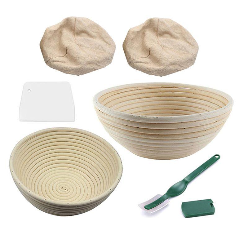 cozimento tigela massa com pão lame forro