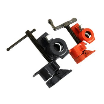 Heavy Duty Pipe Clamp for Woodworking Wood Gluing Steel Cast Iron Fixture Carpenter Hand Tool