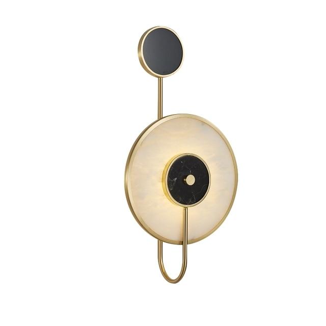 Фото декоративный мраморный настенный светильник tiooka в китайском