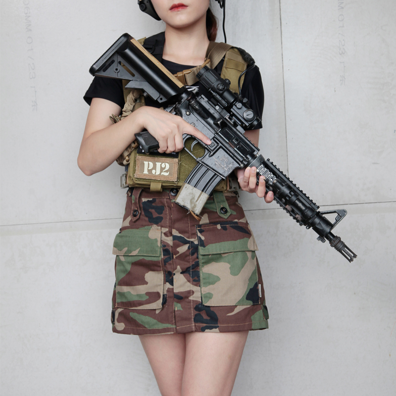 2019 New Woman Tactical A Line Skirt Woodland Woman Skirt