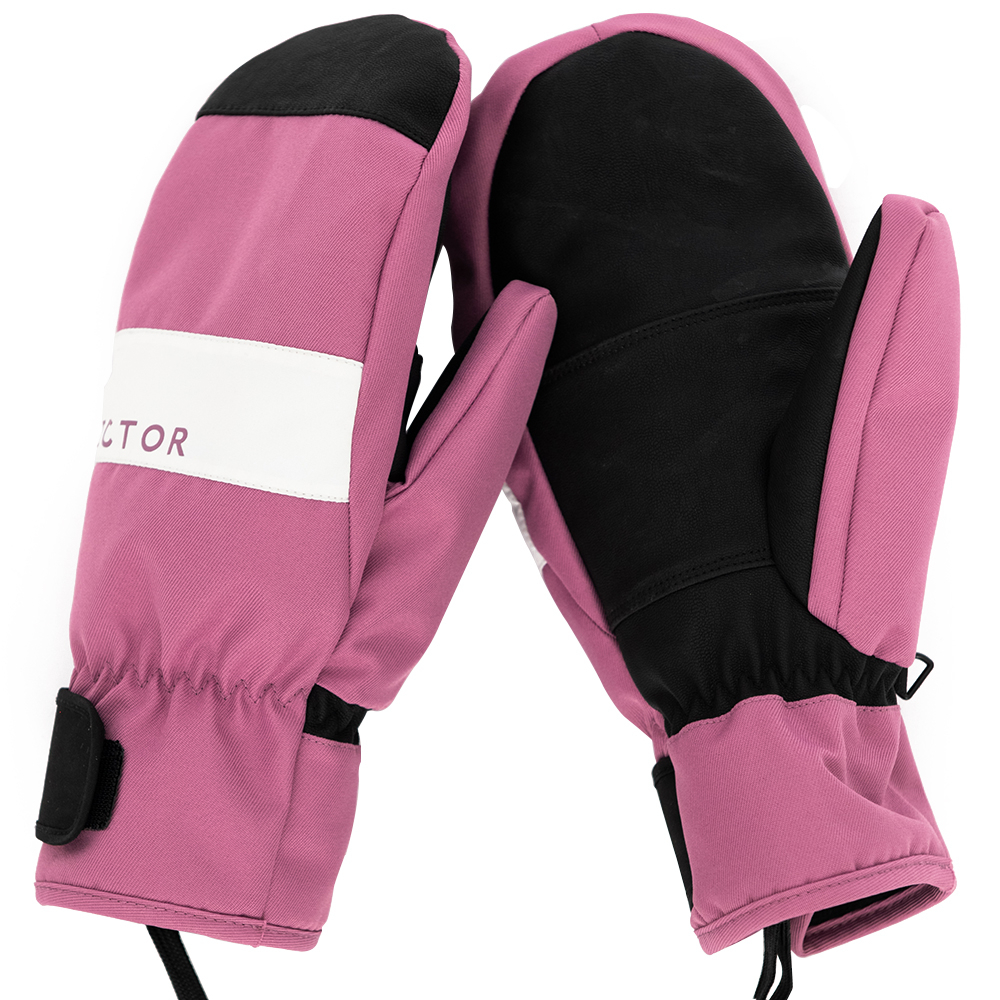 Extra Thick Women 2-IN-1 Mittens Ski Gloves Snowboard Men Snow Winter Sport Warm Waterproof Windproof Skiing Faux Leather Plam
