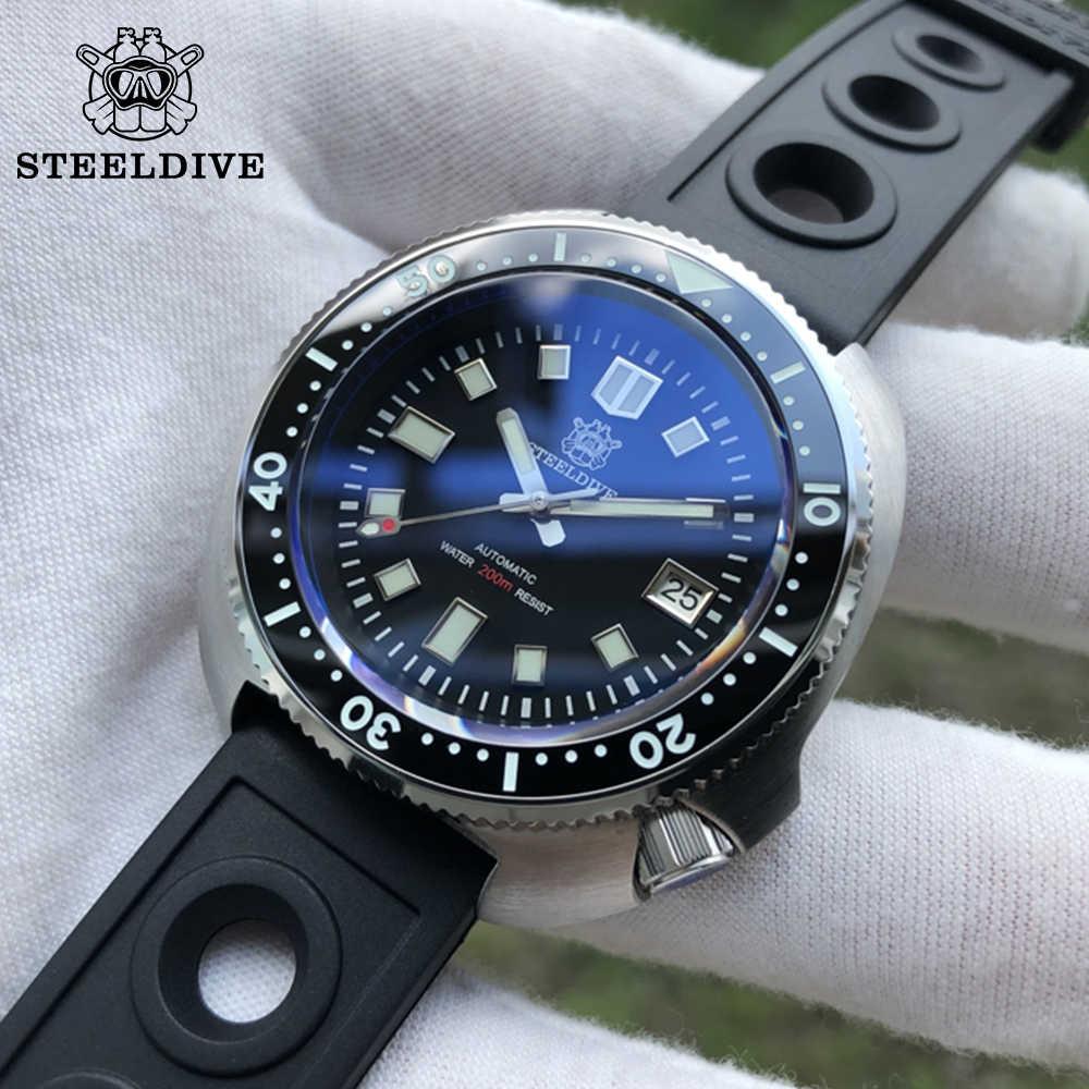 새로운 블루 전복 200M 다이브 시계 자동 기계 남자 시계 NH35 일본 C3 슈퍼 빛나는 스테인레스 다이버 시계 남자 시계