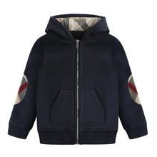 Г. Осень-зима, стиль, Детские Зимние хлопковые толстые теплые спортивные куртки с капюшоном для мальчиков Модная одежда