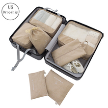 7Pcs/set Travel Packing Cube Bag Organizer Clothe Mesh Storage Bag Cation Underwear Bra Sock Pouch Wash Bags Travel Accessories creative travel underwear packing organizer storage pouch deep blue