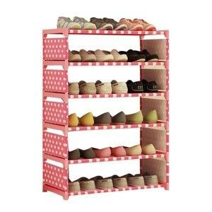 Image 2 - Sale 2019 Household Shoe Cabinets Shoe Rack Hallway Organizer Cabinet Holder Removable Shoe Storage Shelf Living Room Furniture