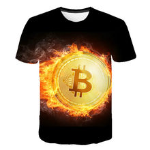 2021 latest blockchain bitcoin currency encrypted coin cool casual pride 3D printing fashion couple short sleeves