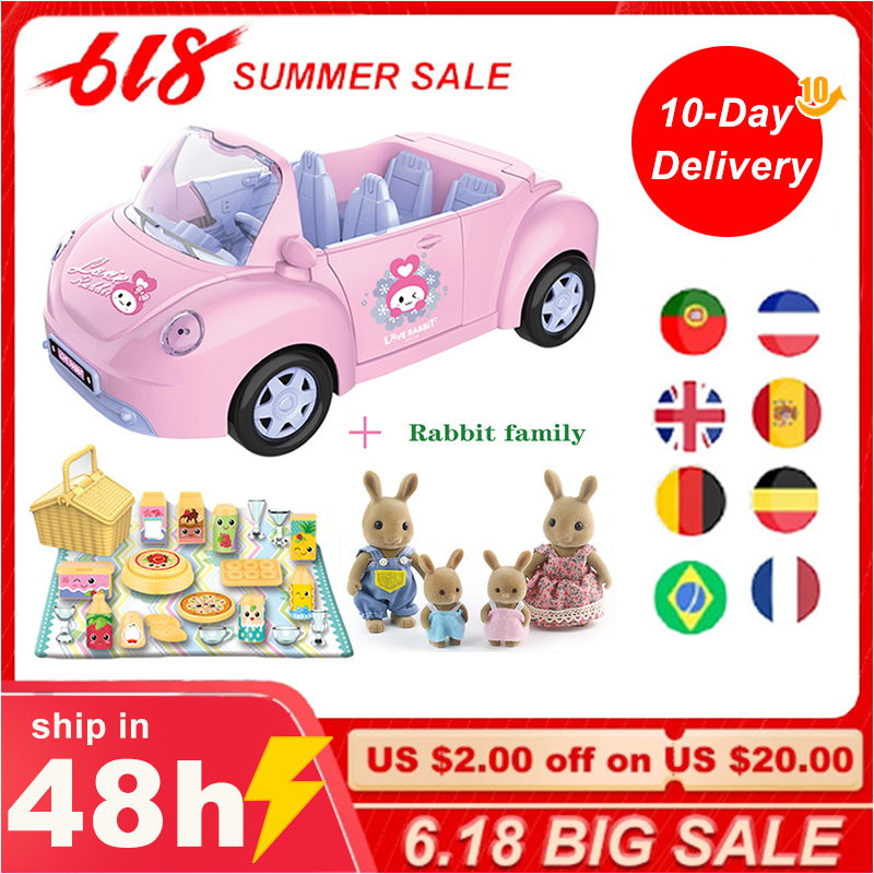 Children's Birthday Gift Simulation Play House Toy Convertible Sliding Car Rabbit Family Ho Package Toy Halloween Gift