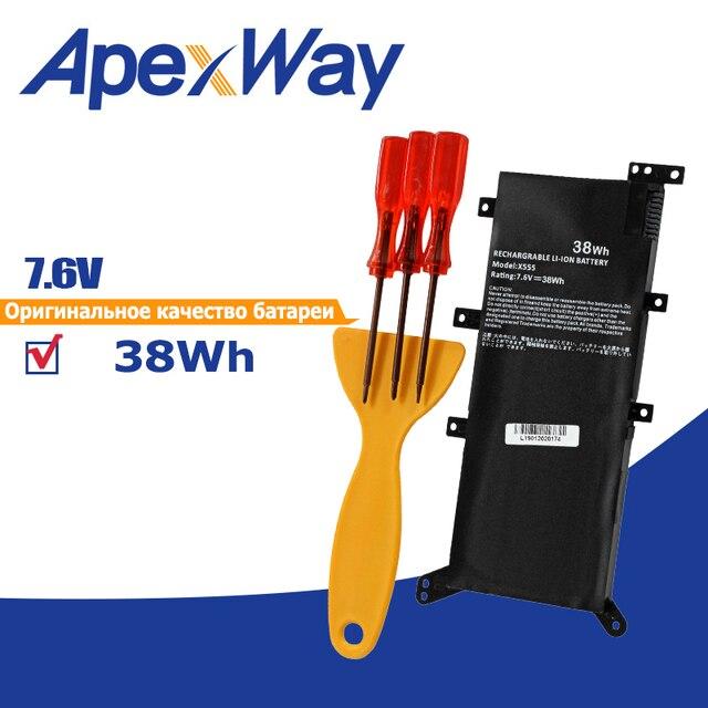 38Wh 7.6V C21N1347 Laptop Battery for Asus x554l X555 X555L X555LD X555LF X555LP X555LI X555LA X555LB X555LN 2ICP4/63/134