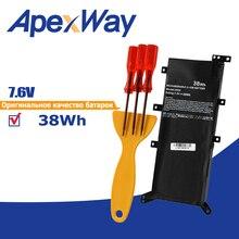 38Wh 7.6V C21N1347 batterie dordinateur portable pour Asus x554l X555 X555L X555LD X555LF X555LP X555LI X555LA X555LB X555LN 2ICP4/63/134
