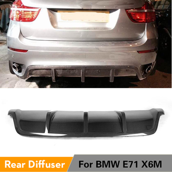 Carbon Fiber / FRP Black Rear Bumper Lip Diffuser Spoiler for BMW X6 E71 2008 - 2014 image