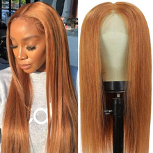 Lace Wigs Human-Hair-Wigs Pre-Plucked Black Remy Straight Women Brazilian 13x4 for 30