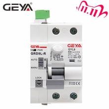 GEYA, dispositivo di recupero automatico 6KA ELCB RCCB 2P 40A 63A 30mA 100mA 300mA RCD