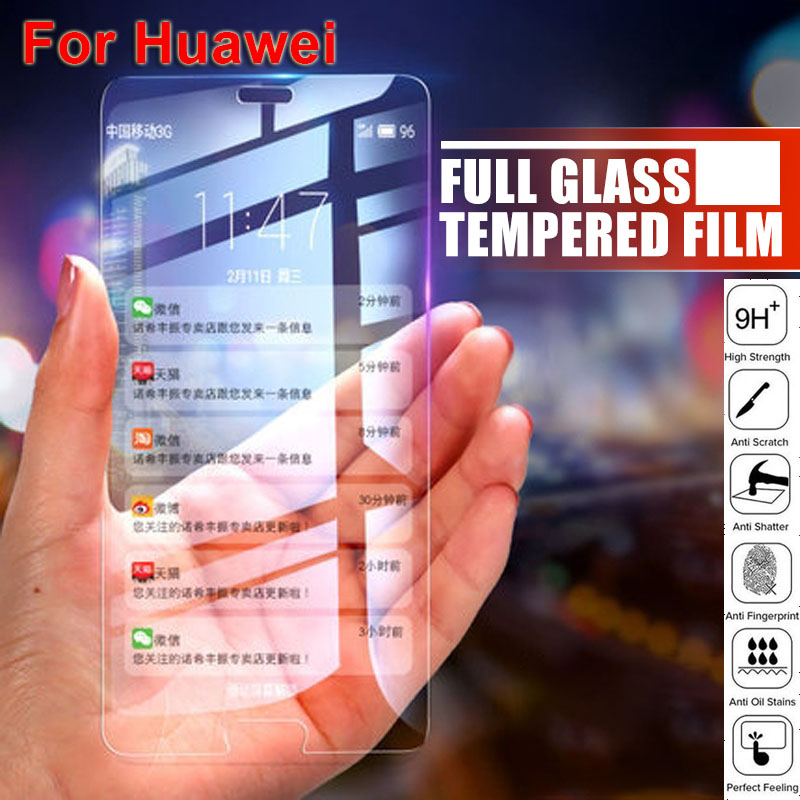 <font><b>Huawei</b></font> P30 Lite 9H Full Cover Screen Protector Protective for HuaweiP20 <font><b>Pro</b></font> <font><b>Mate</b></font> <font><b>20</b></font> P30Pro HD Anti Blue Tempered <font><b>Glass</b></font> Film image