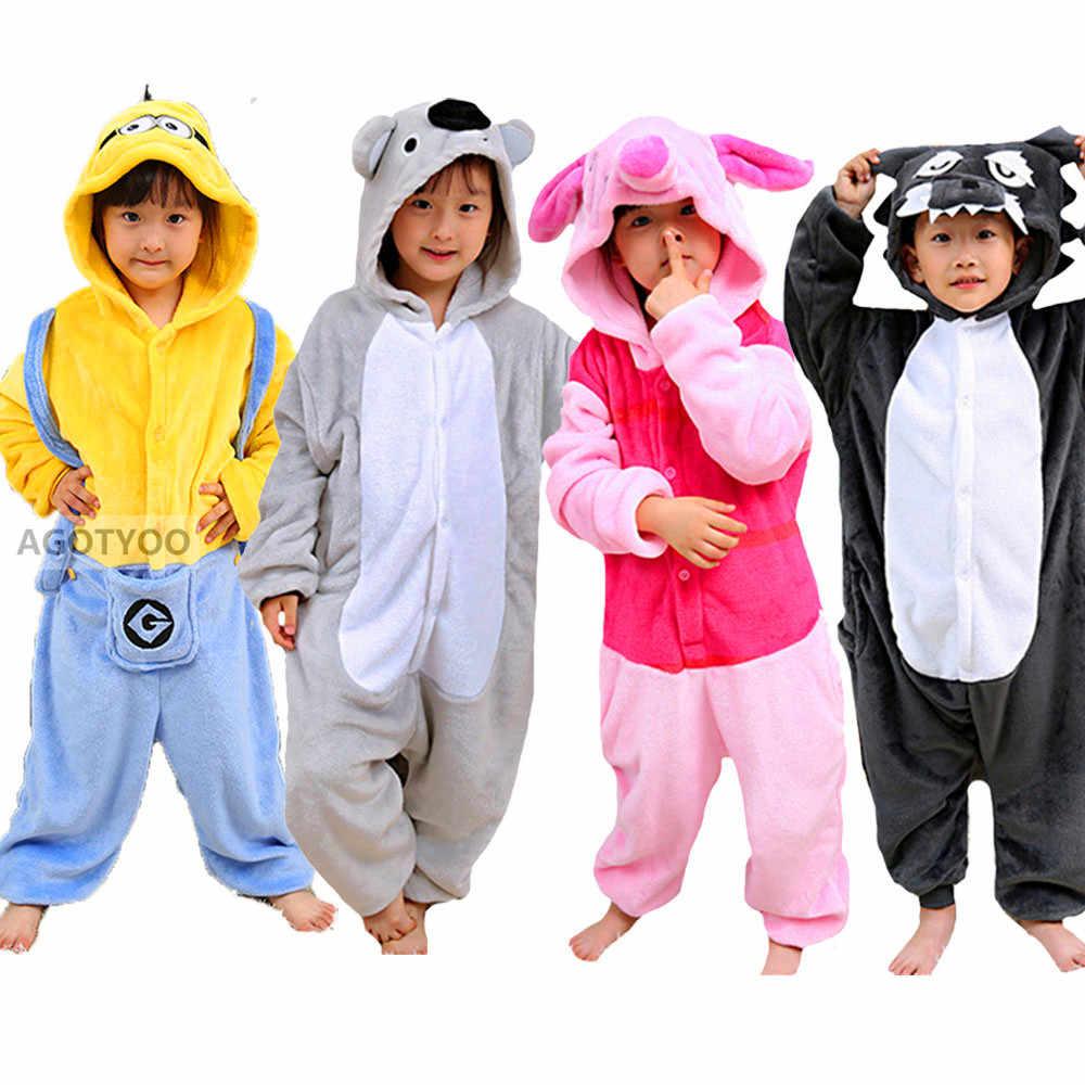 Pijama para crianças, meninas, urso, unicórnio, desenho animado, animal, corne, onesie, sleepwear, meninos, halloween