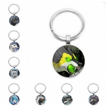 Heat! 2019 New Cute Anime Animal Wolf Head Avatar Pendant Keychain Glass Cabochon Boys and Girls Gifts