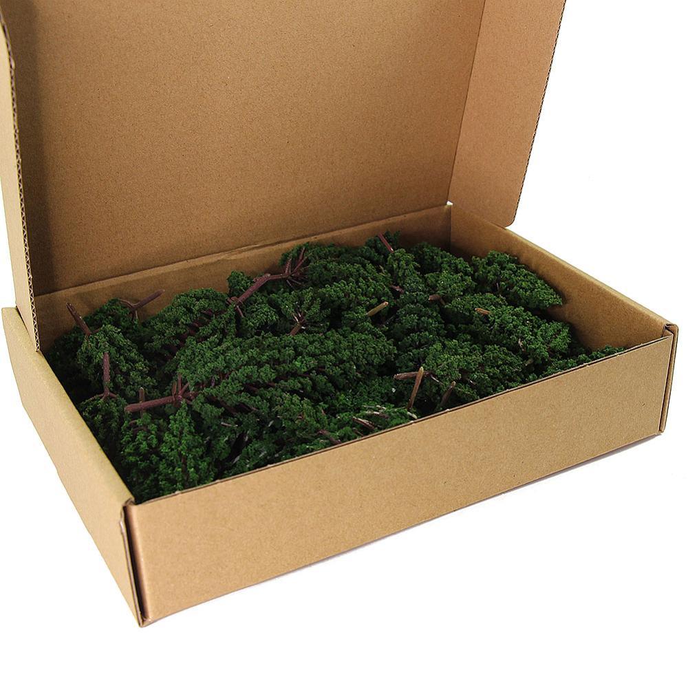 52 шт. модель сосны зелёной сосны Пластик для лес O Хо TT N масштабная модель железной дороги макет миниатюрный пейзажи S0901