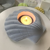 Shell Silicone Pot Mould for Handmade Candle Sticker Holder Mold Aromatherapy Candlestick 3D Conch Molds
