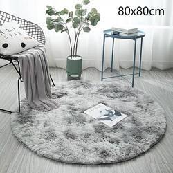 Tapis rond moelleux tapis pour salon décor fausse fourrure tapis enfants chambre Shaggy zone tapis moderne tapis 30x3 0/80X80cm