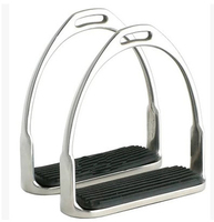 Equestrian Supplies Horse Pedals Horse Stirrup Stainless Steel Pedals Saddle Fittings Pedal Safety Pedals.