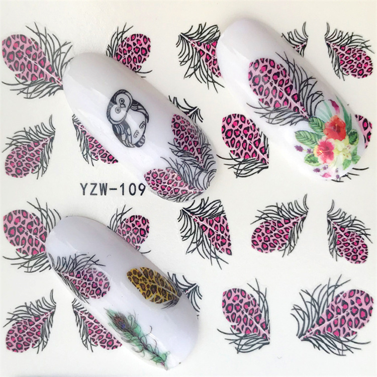 Creative South Korea Cartoon DIY Small Adhesive Paper Cute Nail Sticker Ri Ji Tie Phone Sticker Feather YZW109