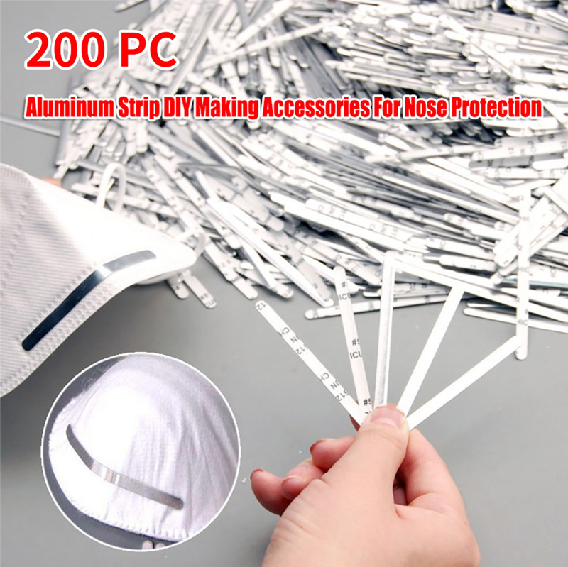 100 PCS Nose Bridge Strips for Mask,Aluminum Strips Nose Wire for DIY Mask Metal Strips Straps Adjustable Nose Clips Mask Wire Face DIY Making Accessories for Sewing Crafts