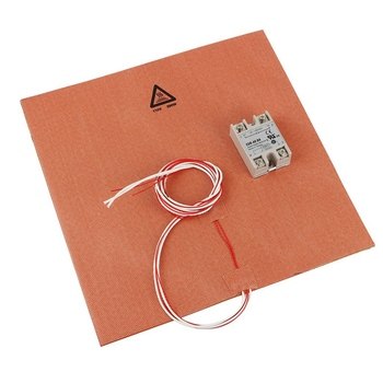 300X300mm Silicone Heater 3D Printer Heater Heatbed Pad 110V 300W with Solid State Relay for 3D Printer Parts