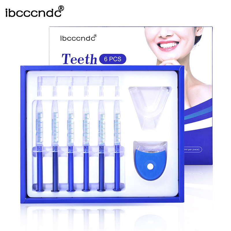 Ibcccndc Teeth Whitening Gel With Led Lights Container Case Diy