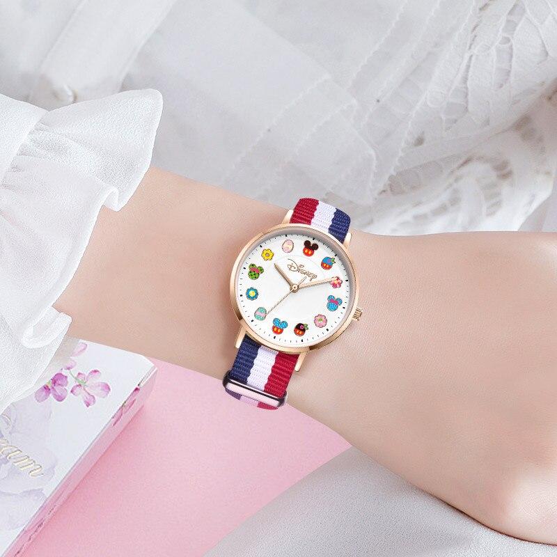 Большой Распродажа Девушка Красивые Часы Милашки Молодежь Леди Наручные часы Дети Сталь Нейлон Кожа Ремешок Часы Малыш% 27s Простой Женщины Часы