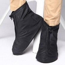 Анти-скольжения многоразовые бахилы Мужчины Женщины водонепроницаемый защитная обувь бахилы дождь бахилы высокого верха открытый
