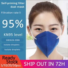 цена на Anti Pollution KN95 Mouth Mask PM2.5 Mouth Mask Dust Respirator Washable Reusable Masks Cotton Unisex Mouth Muffle for outdoor