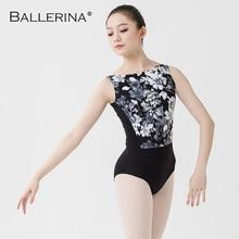 Balletto body donne Dancewear di formazione Professionale ginnastica stampa digitale aperto indietro sexy body Ballerina 2507