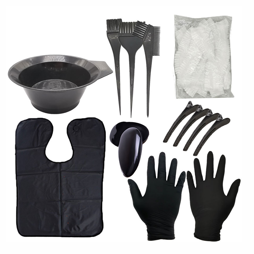 9/11/22 Pcs/set Professional Black Plastic Hairdressing Brushes Bowl Combo Salon Hair Color Kit Dye Hair Tint Tool Set