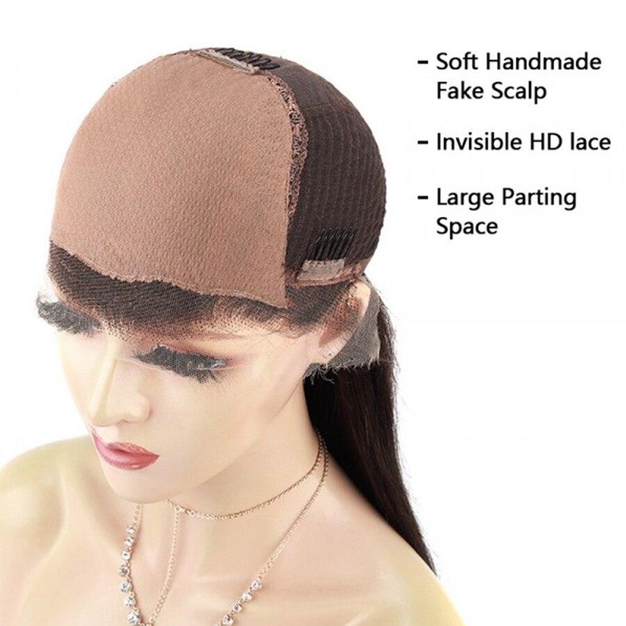 13*6 hd perucas frontais do laço do