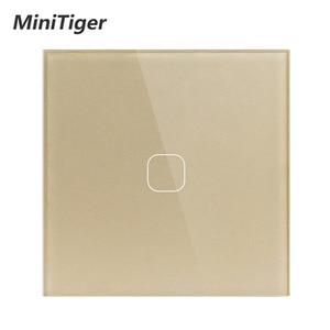 Image 3 - Ab standardı dokunmatik anahtarı 1 Gang 1 yollu duvar işık dokunmatik ekran anahtarı kristal cam Panel LED