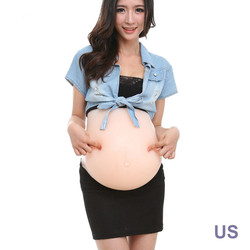 2019 alle Motten Simulation Silikon Gefälschte Schwangeren Bauch Gefälschte Mutterschaft Bauch Baby Bauch 2-4 Monate 4-6 motten 6-8 Motten Twins