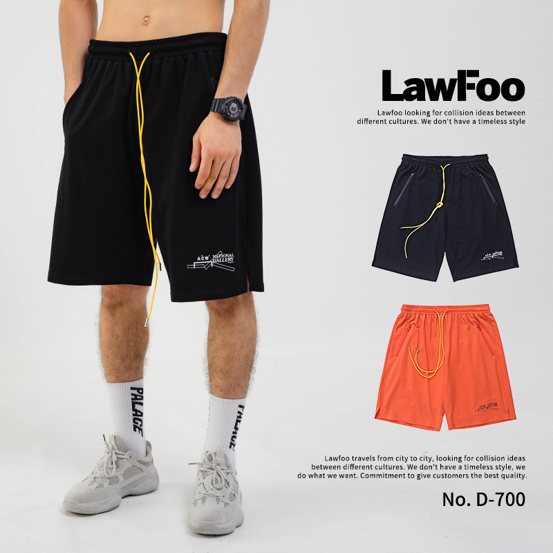 Lawfoo Men'S Wear  Spring And Summer New Style Europe And America Popular Brand Small Lettered Pattern Printed Men Shorts Ca