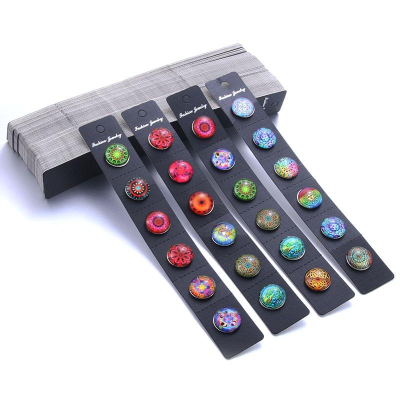 BLack Snap Jewelry Card Display 100pcs/lot 21*3cm Card Display For Snap Button Jewelry (fit18mm 20mm Snap)